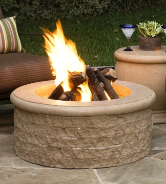 Chiseled Fire Pit - Hover mouse over pic for larger view